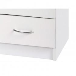 Alpha White Gloss Two Tone Chest Of 4 Drawers