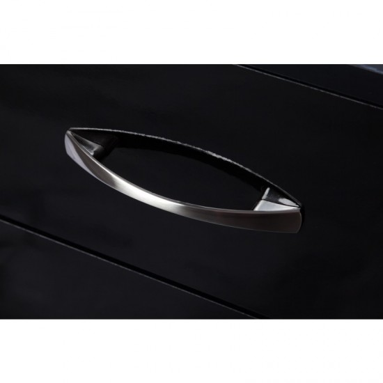 Marina Black Gloss Two Tone Chest Of 3 Drawer