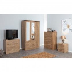 Kinsbury Oak Chest of 3+2 Drawers