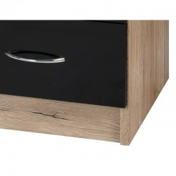 Alpha Black Gloss & San Oak Dressing Table