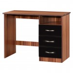 Marina Black Gloss & Walnut Dressing Table