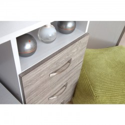 Marina Grey Oak Gloss & White Dressing Table