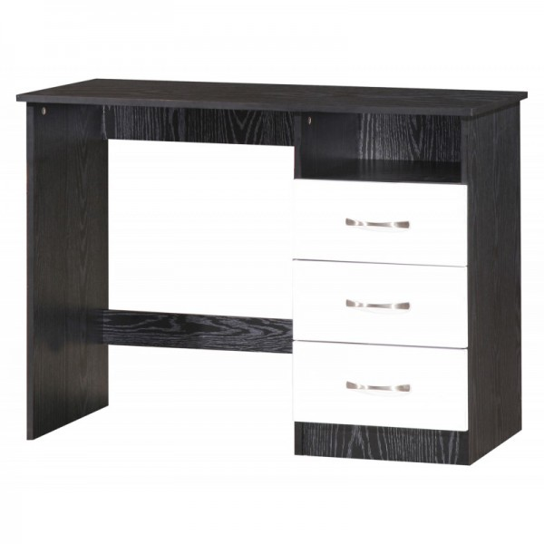 Marina White Gloss & Black Dressing Table