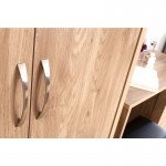 Holland Oak 2 Door Double Wardrobe