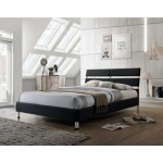 Eden Black 4ft6 Fabric Bed