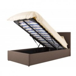 Boston Brown 3ft Ottoman Fabric Bed