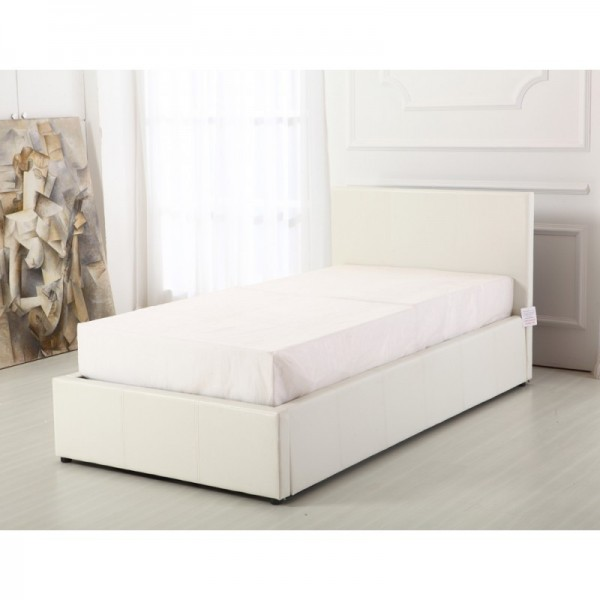 Boston White 3ft Ottoman Storage Bed