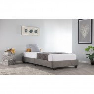 3ft Compact Platform Bed - Grey Fabric