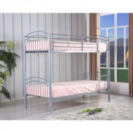 Quebec White Metal Bunk Bed 3ft