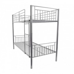 Montreal Silver Single Bunk Bed