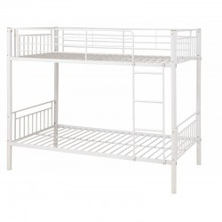 Montreal White Single Bunk Bed