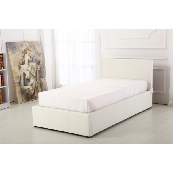 Gator White 3ft Ottoman Storage Bed