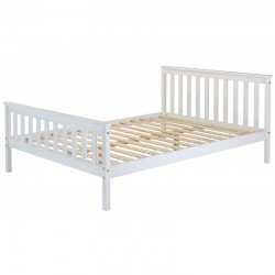 White 4ft6 Wooden Double Bed
