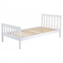 White 3ft Wooden Single Bed