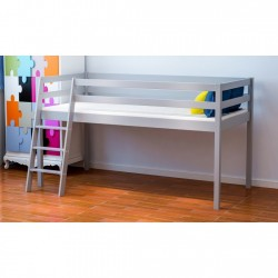3ft Single Mid Sleeper Bed Grey
