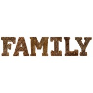 Hand Carved Wooden Geometric Letters Family