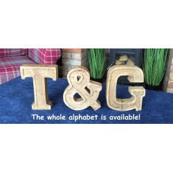 Hand Carved Wooden Embossed Letter &