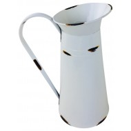 Medium White Distressed Jug 33cm