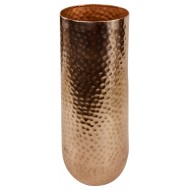 Hammered Effect Blush Tall Vase 43cm