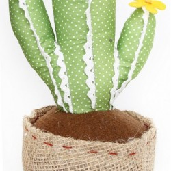 Light Green with Lace Cactus Doorstop 34cm