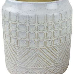 White Star Textured Stoneware Planter 20cm