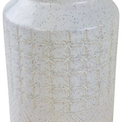 White Star Textured Stoneware Vase 30cm