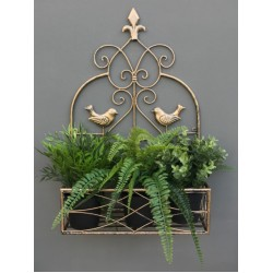 Large Gold Wall Planter