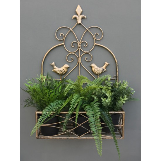 Small Gold Wall Planter