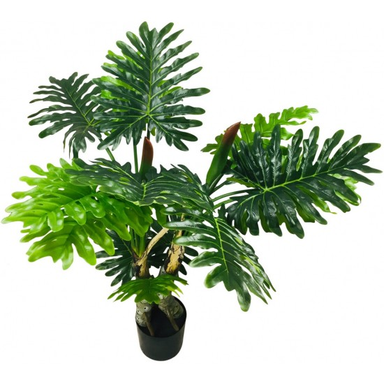 Artificial Philodendron Tree With Stone Spot Stems 135cm
