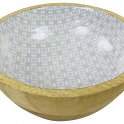 Wooden Decorative Bowl 17cm