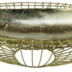 Gold Decorative Wire Bowl 58cm