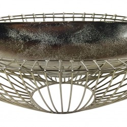 Silver Decorative Wire Bowl 58cm