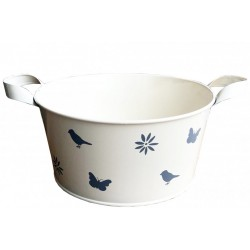 Cream Enamel Bowl - Large