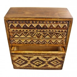 Kasbah 2 Drawer Trinket Unit 21x20cm