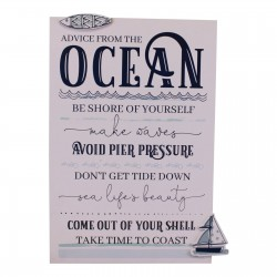 Rules Of The Ocean Wall Plaque