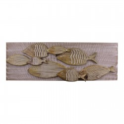 School Of Fish Wooden Wall Art, 97x33cm
