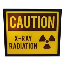 Decorative Lightbox, Caution X-Ray Radiation