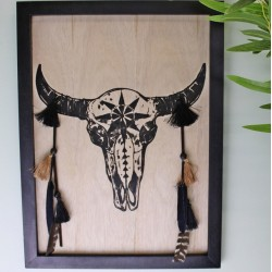 Skull Plaque Wall Decor, 40x30cm