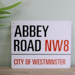Vintage Metal Sign – Abbey Road, London Street Sign