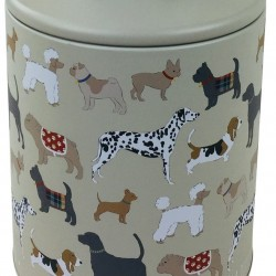 Dog Print Storage Tin 22cm