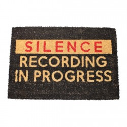 Silence Recording In Progress Doormat, 60x40cm