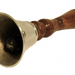 Small Hand Bell with Wooden Handle