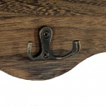 Brown Heart Coat Rack With Shelf 50x29x9.5 cm