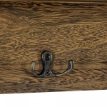 Brown 2 Drawer Coat Rack With Shelf 50x10x33.5 cm