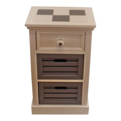 Contemporary Grey & White Chest Of Drawers, 3 Drawers