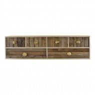 6 Drawer Unit Driftwood Effect Drawers With Pebble Handles Freestanding or Wall Mountable
