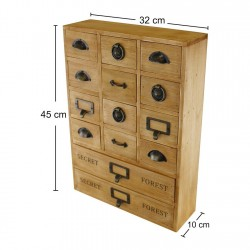 14 Drawer Storage Unit Trinket Drawers
