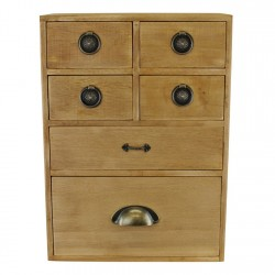 6 Drawer Storage Cabinet Assorted Size Drawers