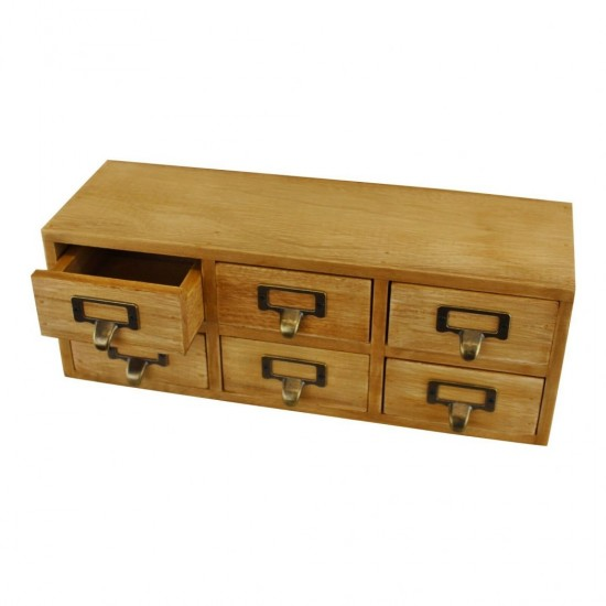 6 Drawer Double Level Small Storage Unit Trinket Drawers