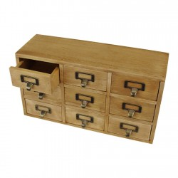 9 Drawer Triple Level Small Storage Unit, Trinket Drawers